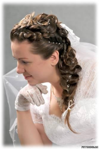 свадебные прически с косами видео уроки